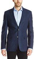Calvin Klein Men's Twill Washed Wool Slim Fit Coat, Navy Blue, 44/Regular