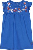 Petit Bateau Embroidered floral cotton dress 3-36 months