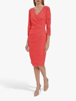 Gina Bacconi Clarinell Lace Midi Dress