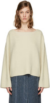Isabel Marant Ecru Oversized Fly Sweater