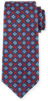 Kiton Medallion-Print Silk Tie