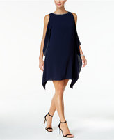 Vince Camuto Embellished Side-Ruffle Dress