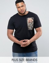 Religion PLUS T-Shirt With Rose Graphic