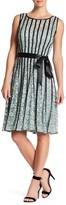 SL Fashions Satin Stripe Lace Dress