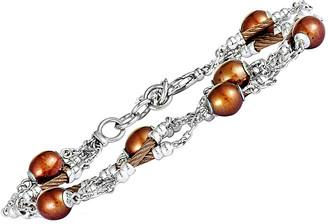 Charriol Stainless Steel Pearl Bracelet