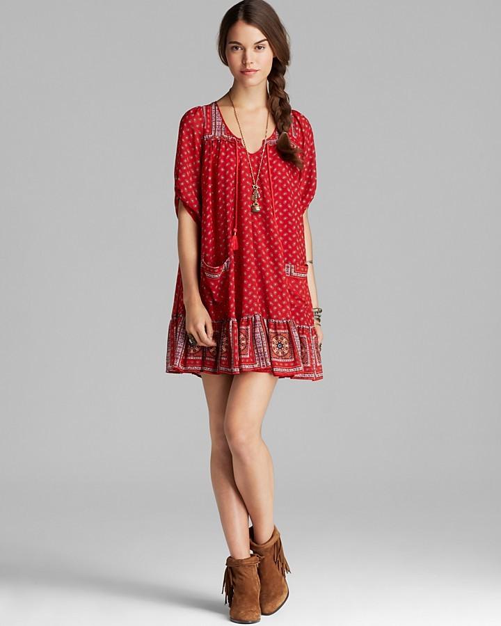 Free People Dress - Check Chiffon Penny Lane