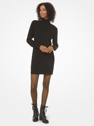 MICHAEL Michael Kors Ribbed Turtleneck Sweater Dress