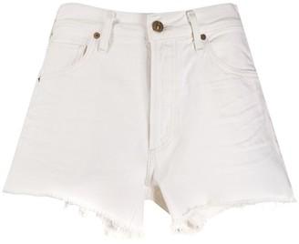 Citizens of Humanity Frayed Mid-Rise Denim Shorts