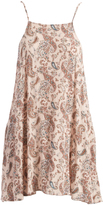 Mimichica Blush Floral Strappy-Back Sidetail Dress