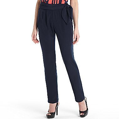 Mng By Mango® Tie-Waist Pleated Pants