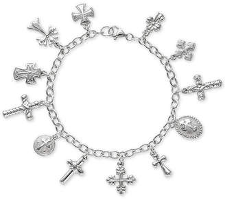 Giani Bernini Multiple Cross Charm Bracelet in Sterling Silver