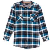 Burnside Lyon's Blue Flannel Button-Up - Boys