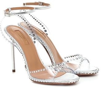 Aquazzura Dream 105 embellished PVC sandals