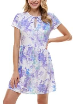 BeBop Juniors' Tie Dye Fit & Flare Dress