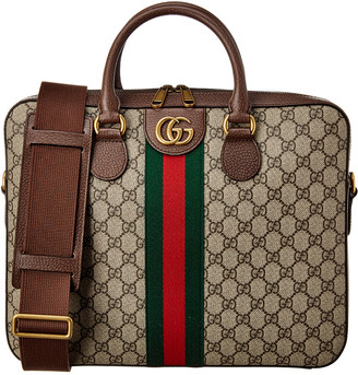 Gucci Ophidia Gg Supreme Canvas & Leather Briefcase