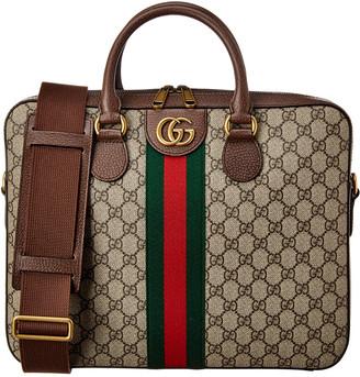 Gucci Web Ophidia Gg Supreme Canvas & Leather Briefcase