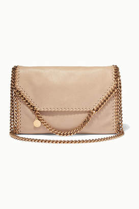 Stella McCartney The Falabella Faux Brushed-leather Shoulder Bag - Off-white