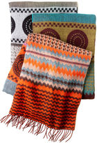 David & Young Scarf, Softer Than Cashmere Oversized Tribal Print Scarf
