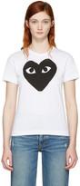 Comme des Garcons White & Black Heart T-Shirt