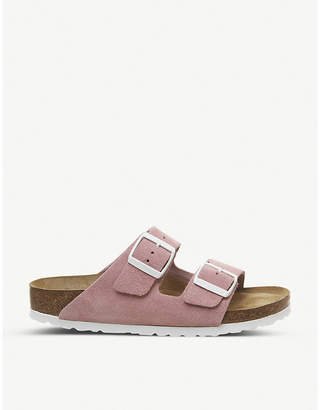 Birkenstock Arizona faux-leather two-strap sandals