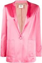 Semi-Couture Single-Breasted Blazer