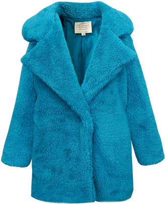 Hannah Banana Girl's Notch-Collar Faux Fur Jacket, Size 4-14