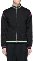 McQ by Alexander McQueen Logo print stripe zip jacket