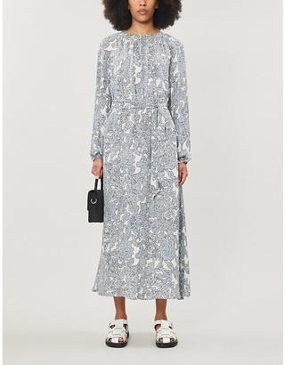 Samsoe & Samsoe Kaia floral-print silk-chiffon midi dress
