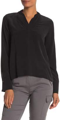 Go By Go Silk V-Neck Long Sleeve Silk Blouse