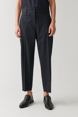 Cos Loose Wool-Mix Trousers