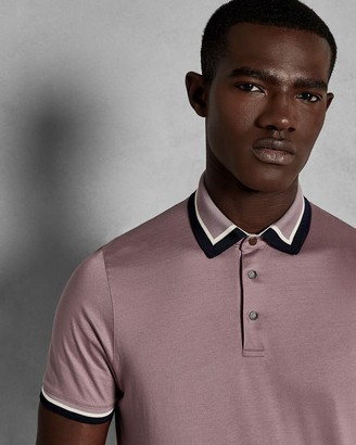 Ted Baker Contrast Trim Cotton Polo Shirt