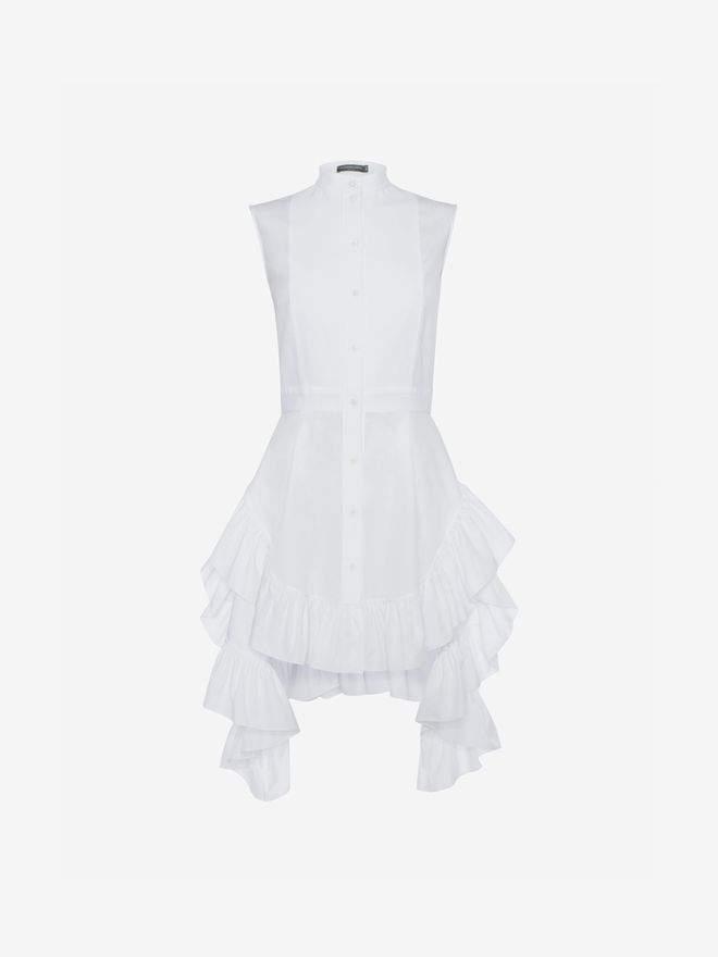 Alexander McQueen Sleeveless Poplin Shirt