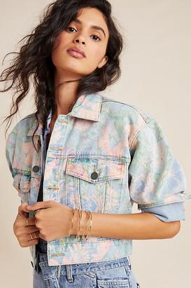 Blank NYC Gardenia Denim Trucker Jacket By BLANKNYC in Blue Size XS