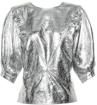 Isabel Marant Nolaz metallic leather top