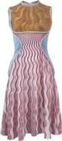 Mary Katrantzou Balas Wave Print Dress