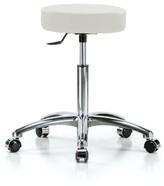 Height Adjustable Swivel Stool Perch Chairs & Stools Color: Adobe White Vinyl