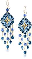 Miguel Ases Gold-Filled Multicolored Beaded Drop Earrings