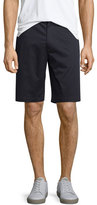 Vince Flat-Front Sateen Shorts, Navy