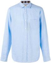 Burberry 'Westcliffe' check detail shirt - men - Linen/Flax - L