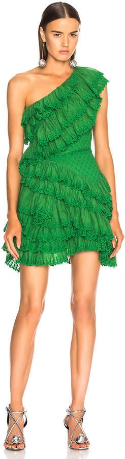 Isabel Marant Zeller Dress in Moss Green | FWRD