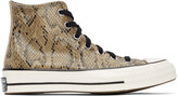 Thumbnail for your product : Converse Brown Snake Chuck 70 High Sneakers