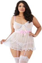 Dreamgirl Dream Girl Mesh Babydoll-Plus