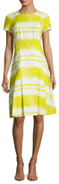 Carolina Herrera Printed Pleated Flare Dress