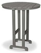 """Monterey Bay Bar Table Trex Outdoor Color: Stepping Stone, Table Size: 48"""""""