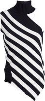 Monse Striped Sleeveless Wool Turtleneck