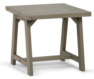"Birch Laneâ""¢ Heritage Ine Solid Wood Trestle End Table Birch Lanea Heritage Color: Distressed Gray"