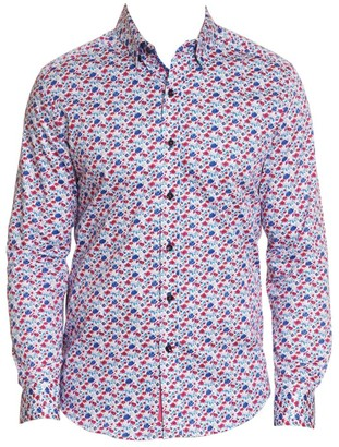 Robert Graham Everard Mini Floral Button-Down Shirt