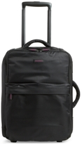 "Vera Bradley 20"" Foldable Carry-On Rolling Suitcase in Black"