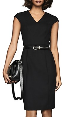 Reiss Hartley Cap-Sleeve Sheath Dress
