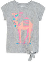 Arizona Short-Sleeve Side Tie Graphic Tee - Preschool Girls 4-6x
